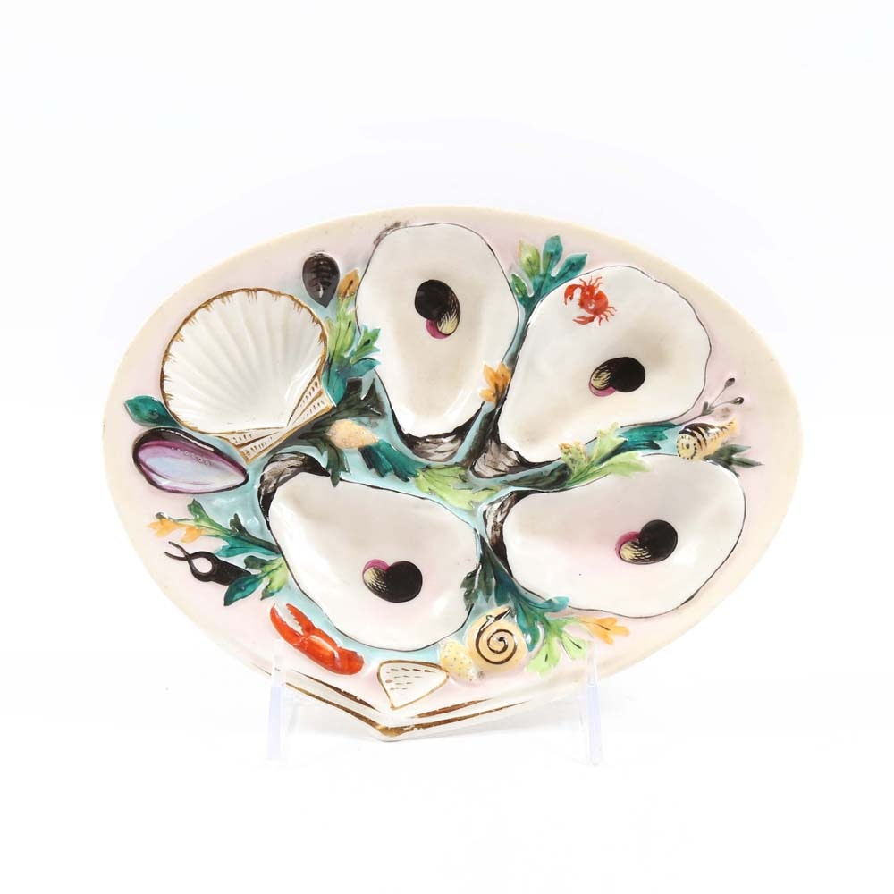 Antique Union Porcelain Works Oyster Plate