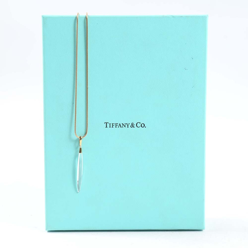 Tiffany & Co. 18K Yellow Gold and Rock Crystal Necklace