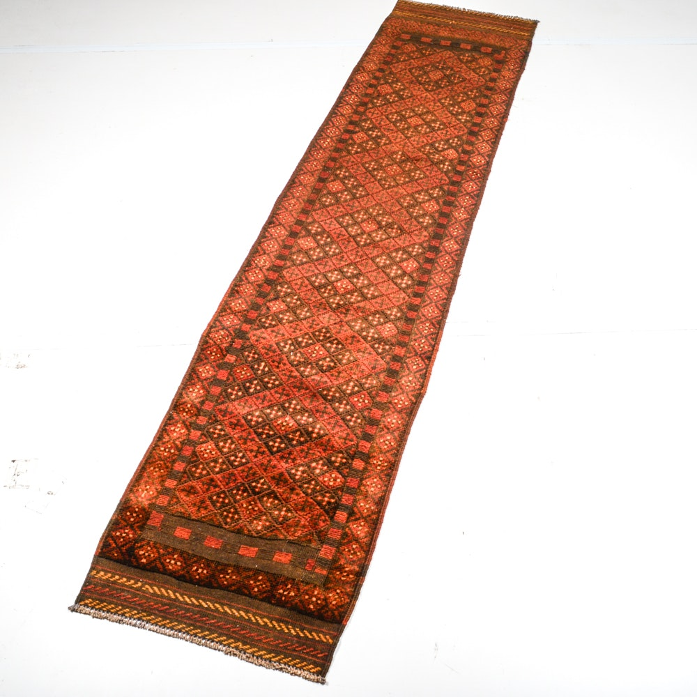 Handwoven Northwest Persian Baluch Runner Rug