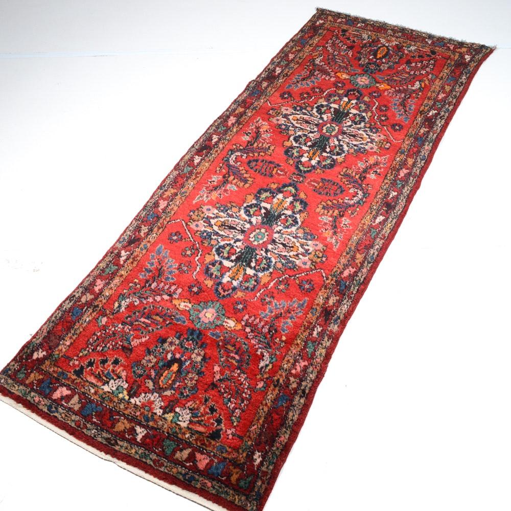 Semi-Antique Hand-Knotted Persian Zanjan Runner