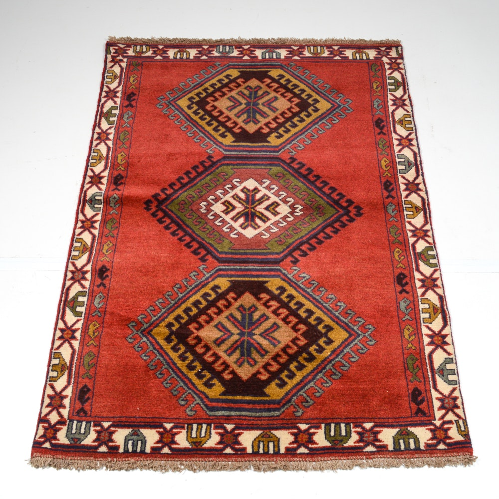 Hand-Knotted Persian Khorasan Area Rug