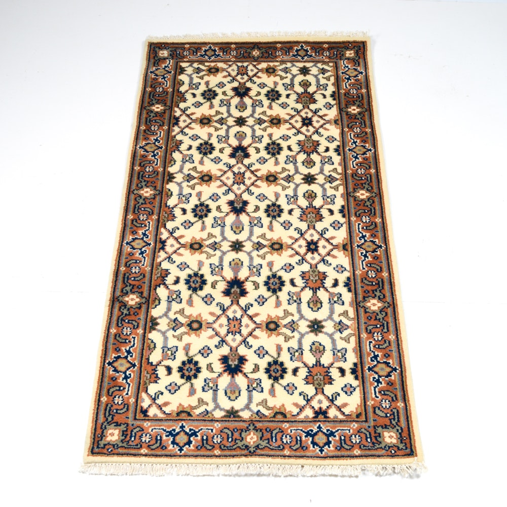 Hand-Knotted Indo-Persian Mahal Area Rug