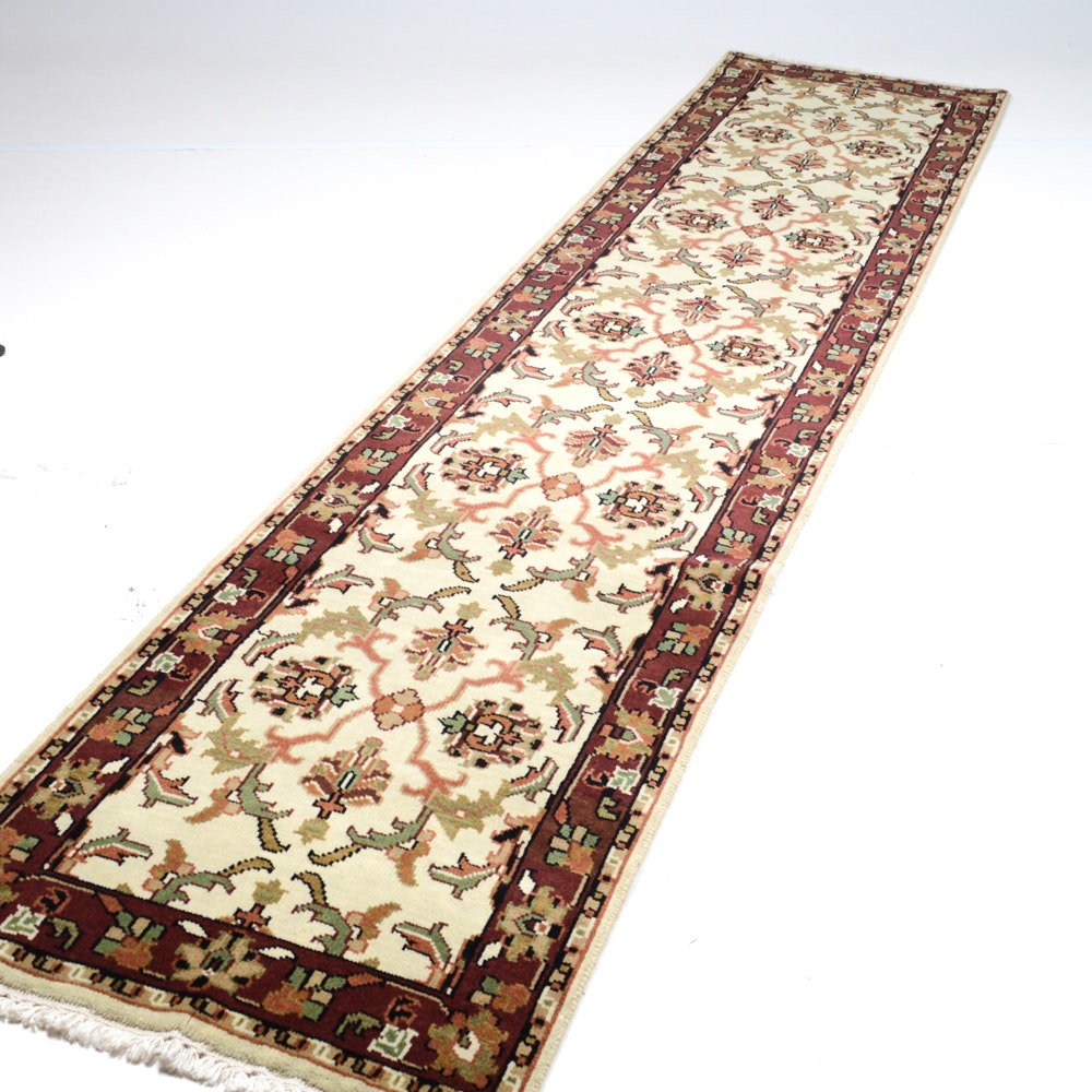 Hand-Knotted Indo-Persian Mahal Runner