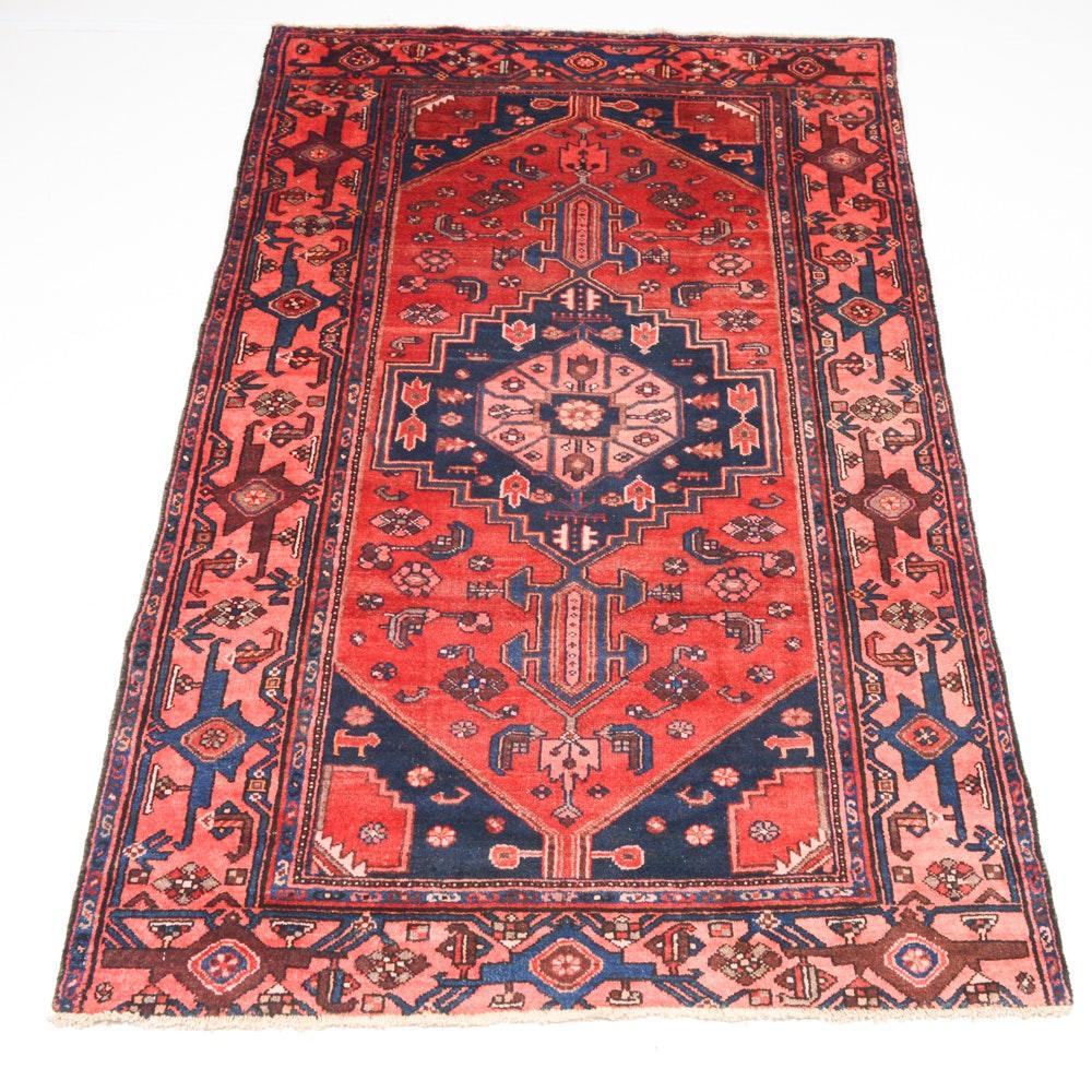 Circa 1930s Handwoven Persian Viss Karacheh Heriz Serapi Rug