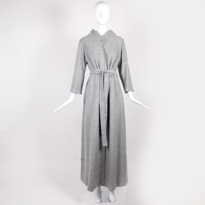 Vintage Hattie Carnegie Belted Wool Evening Coat