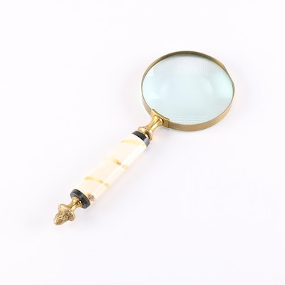 Brass and Resin Magnifying Glass