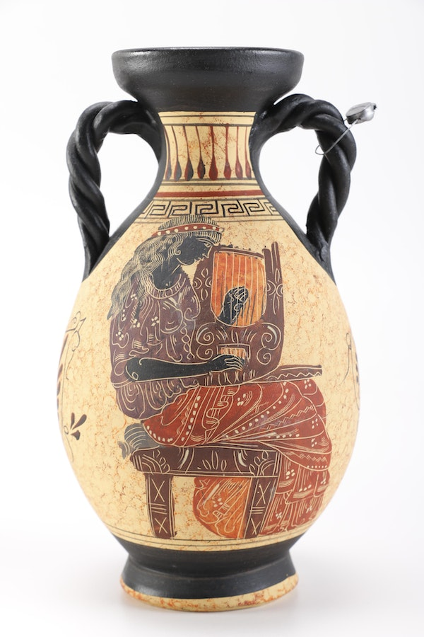 Pottery vases in style of ancient greece ebth for Ancient greek pottery decoration