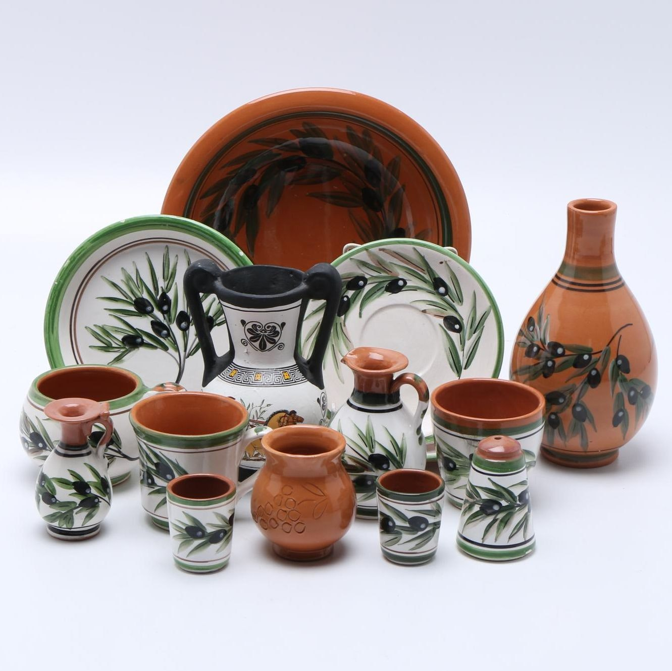 Hand-Painted Greek Ceramic Tableware ... & Hand-Painted Greek Ceramic Tableware : EBTH