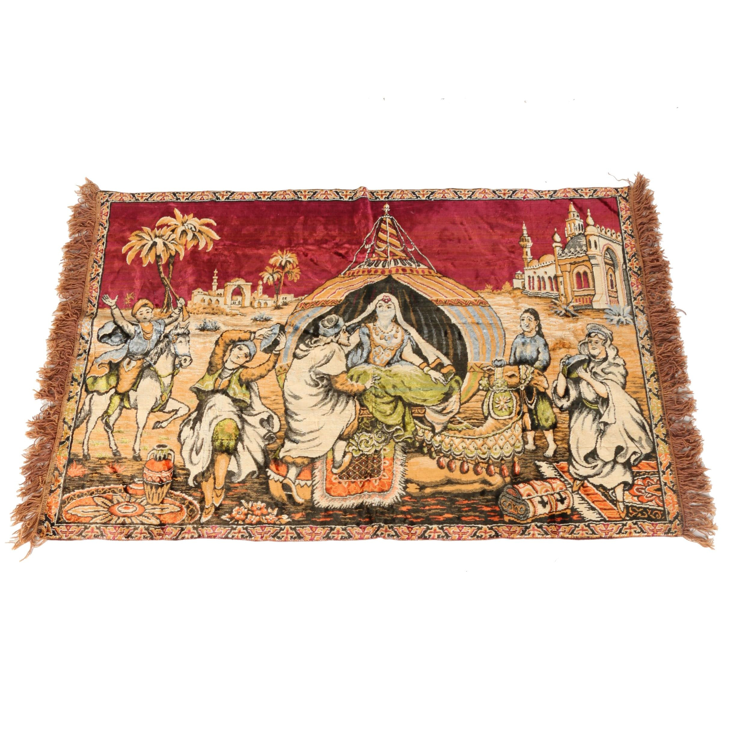 Hand-Knotted Persian Pictorial Tapestry