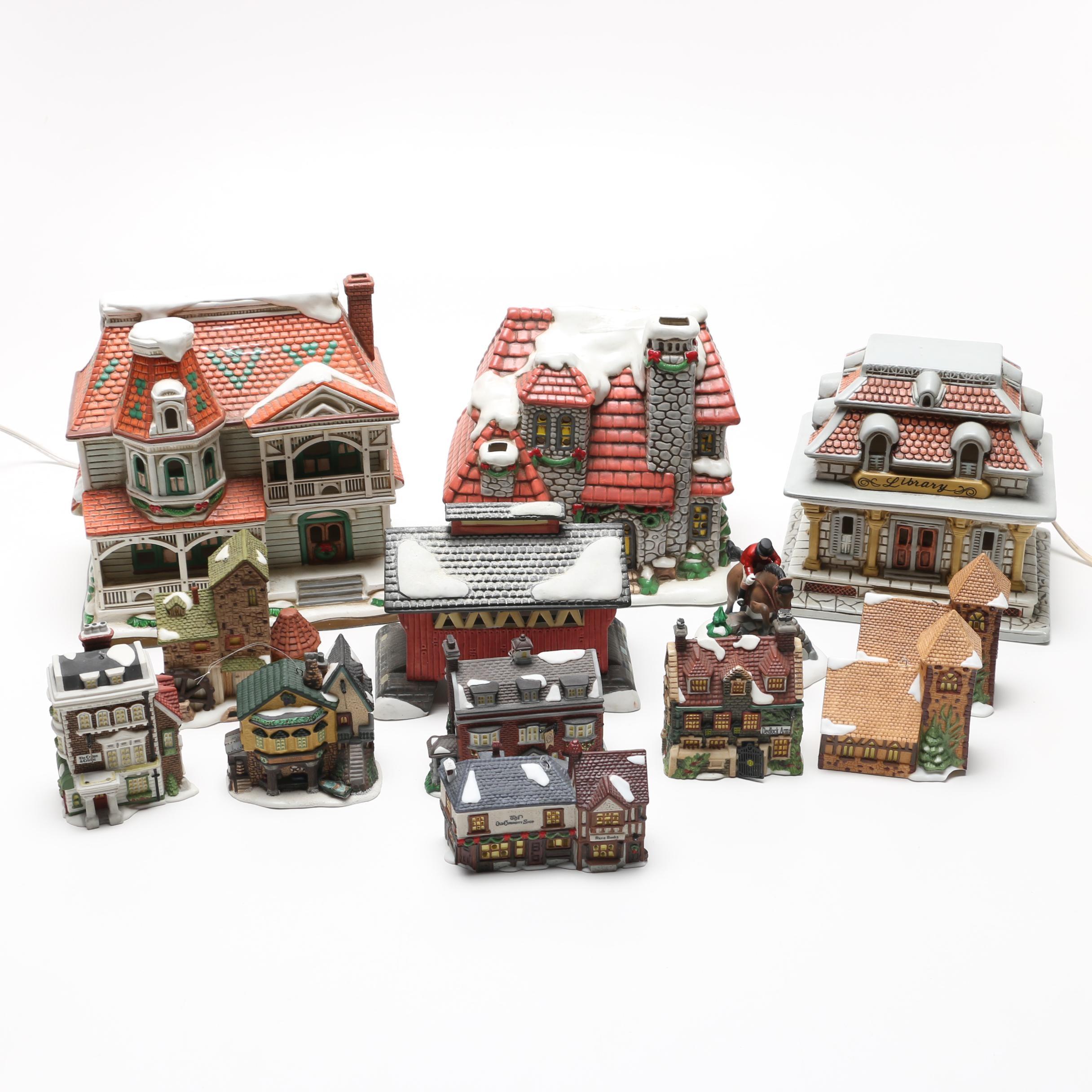 Colonial Village Figurines Including Lefton