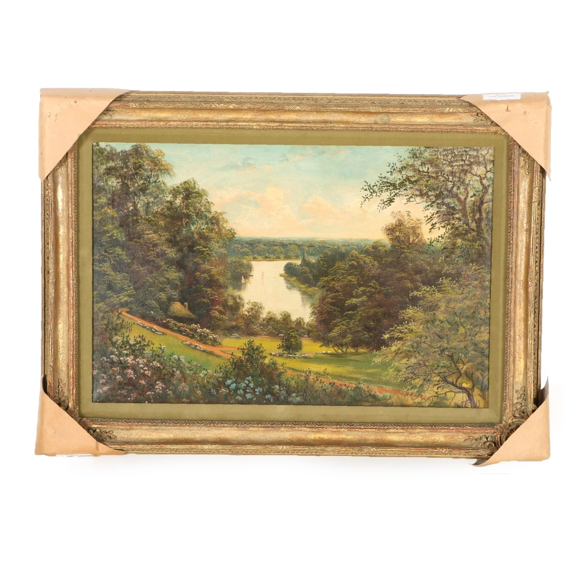 John Lewis Oil Painting on Canvas Landscape