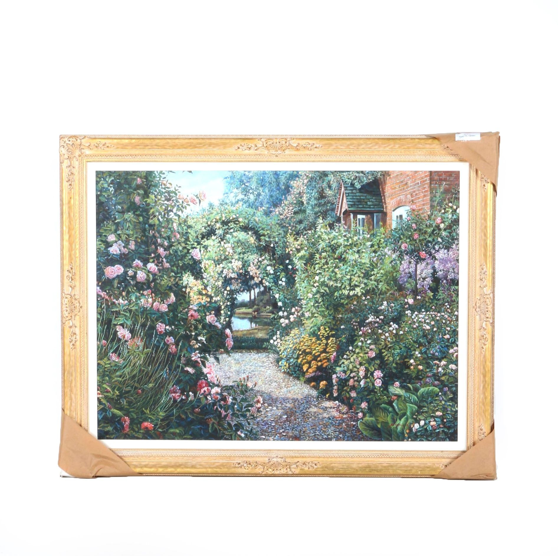 """Peter Ho Oil Painting on Canvas """"Flower Garden"""""""