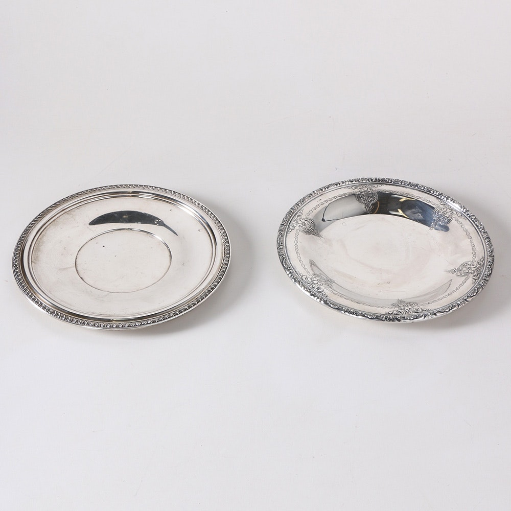 Towle and Quaker Sterling Silver Serving Plates