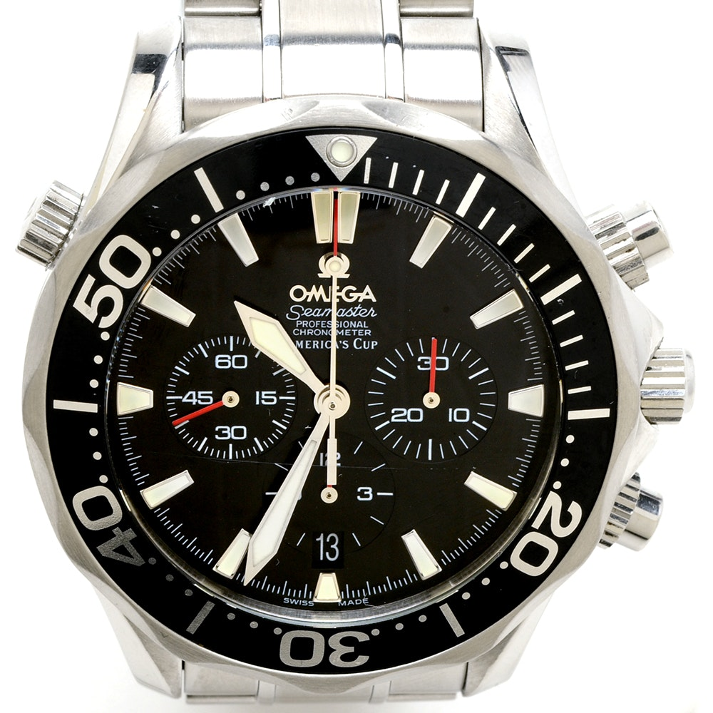 Men's Omega Seamaster Chronograph AMERICA'S CUP 41.5mm Steel Auto