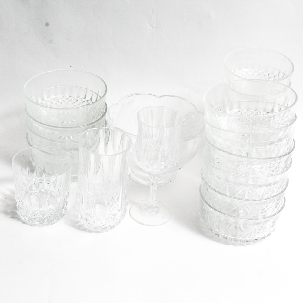 Vintage Crystal Glass and Tableware Assortment