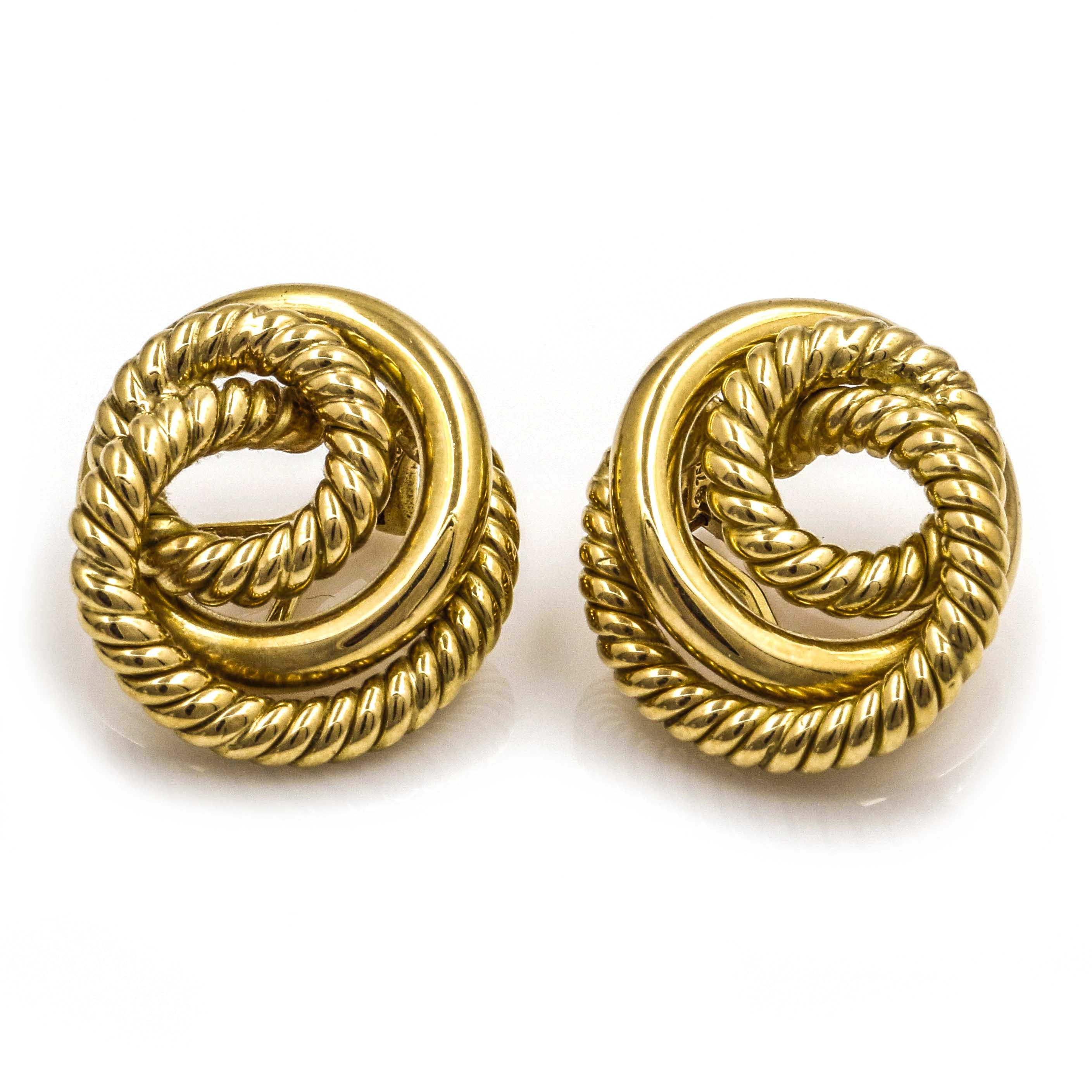 18K Yellow Gold Clip-On Earrings