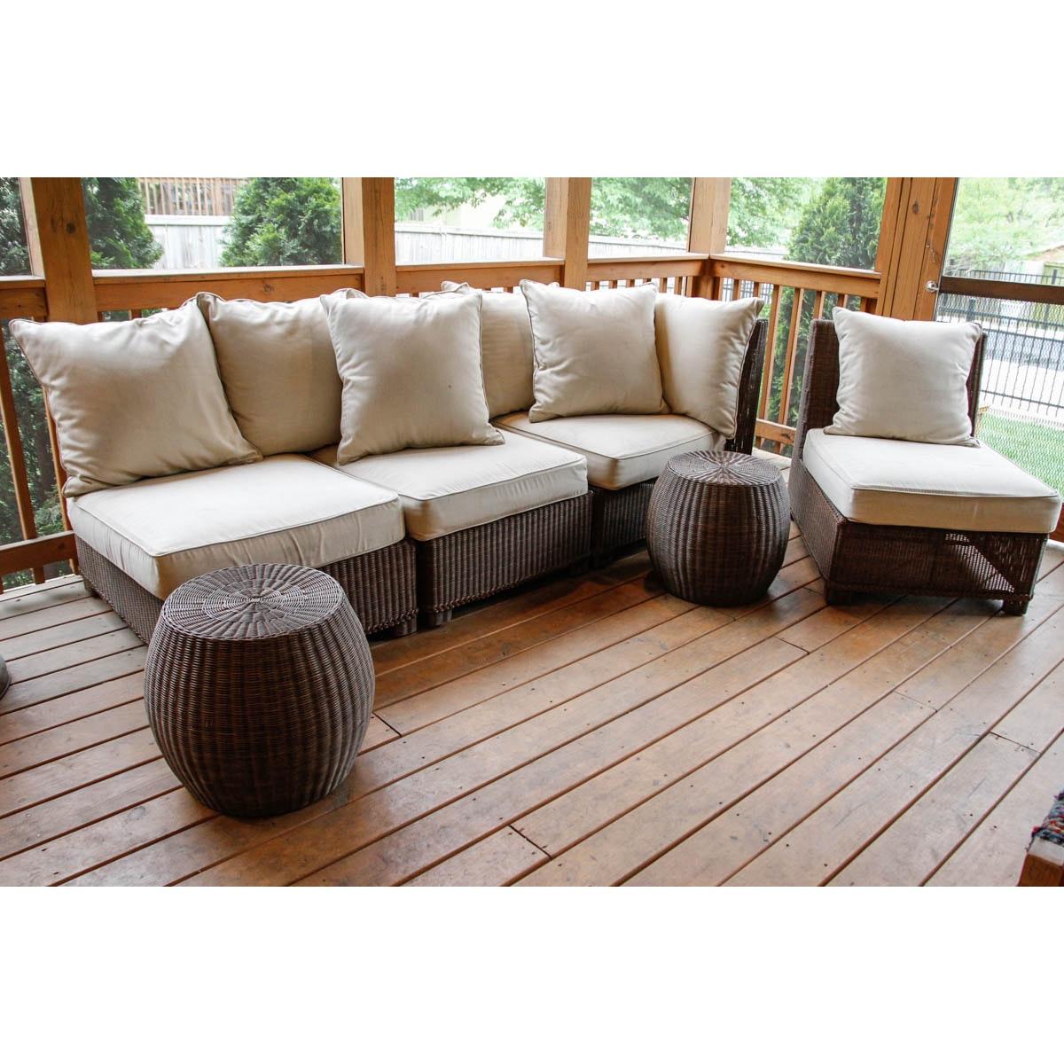Modular Patio Sofa and Side Tables