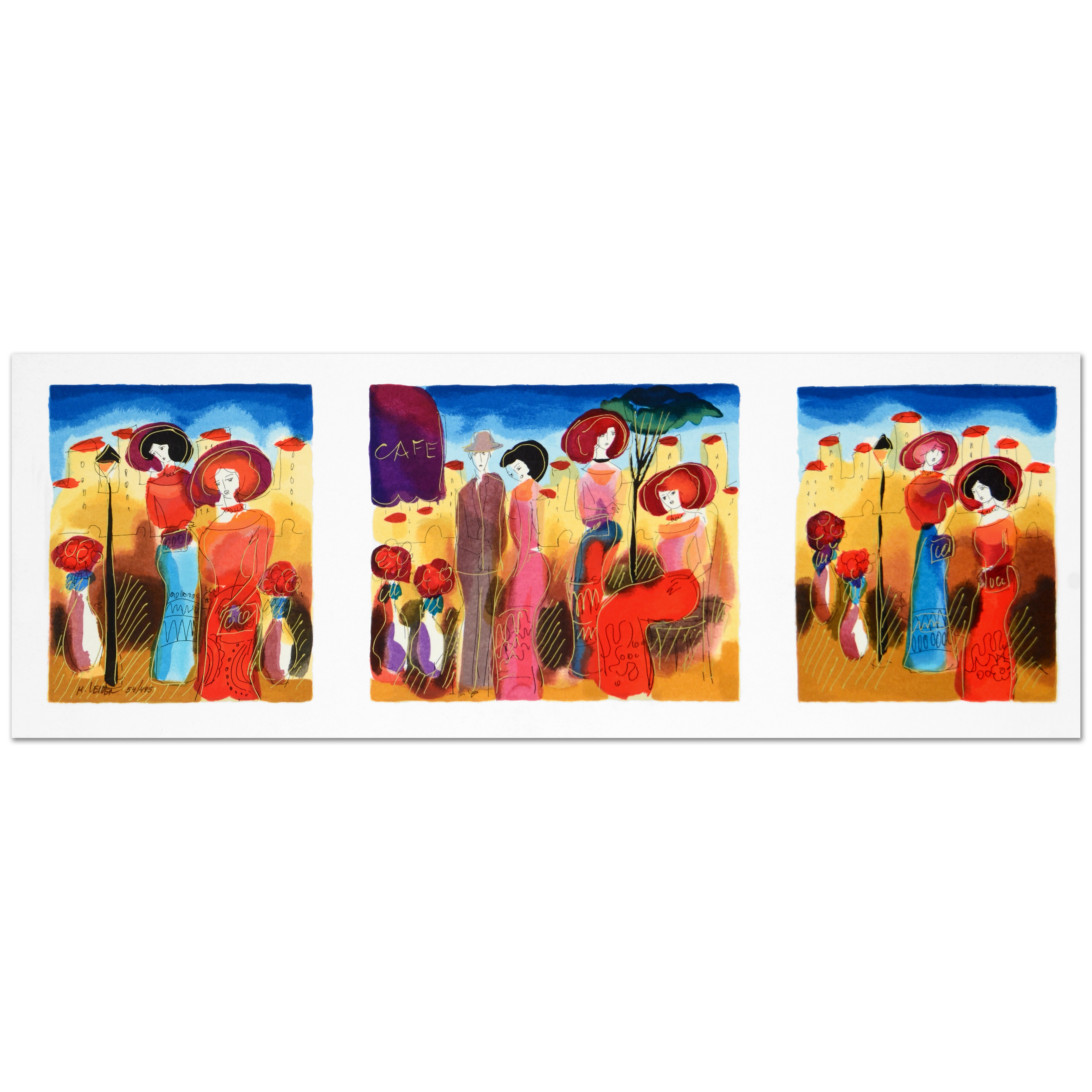 "Moshe Leider Limited Edition Serigraph on Paper ""Sunny Afternoon"""