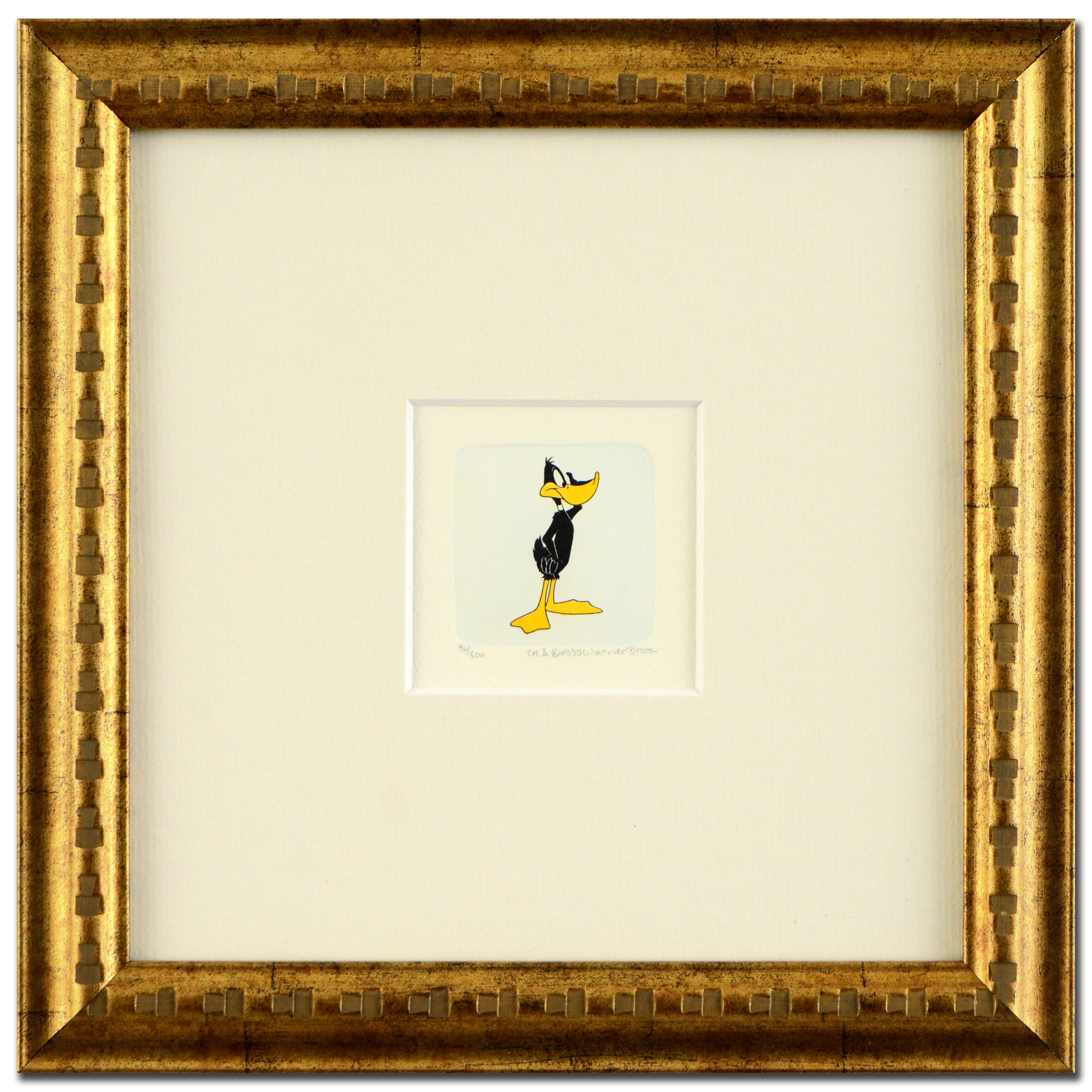 "Warner Bros. Hand Tinted Etching ""Daffy Duck (Looking to the Side)"""