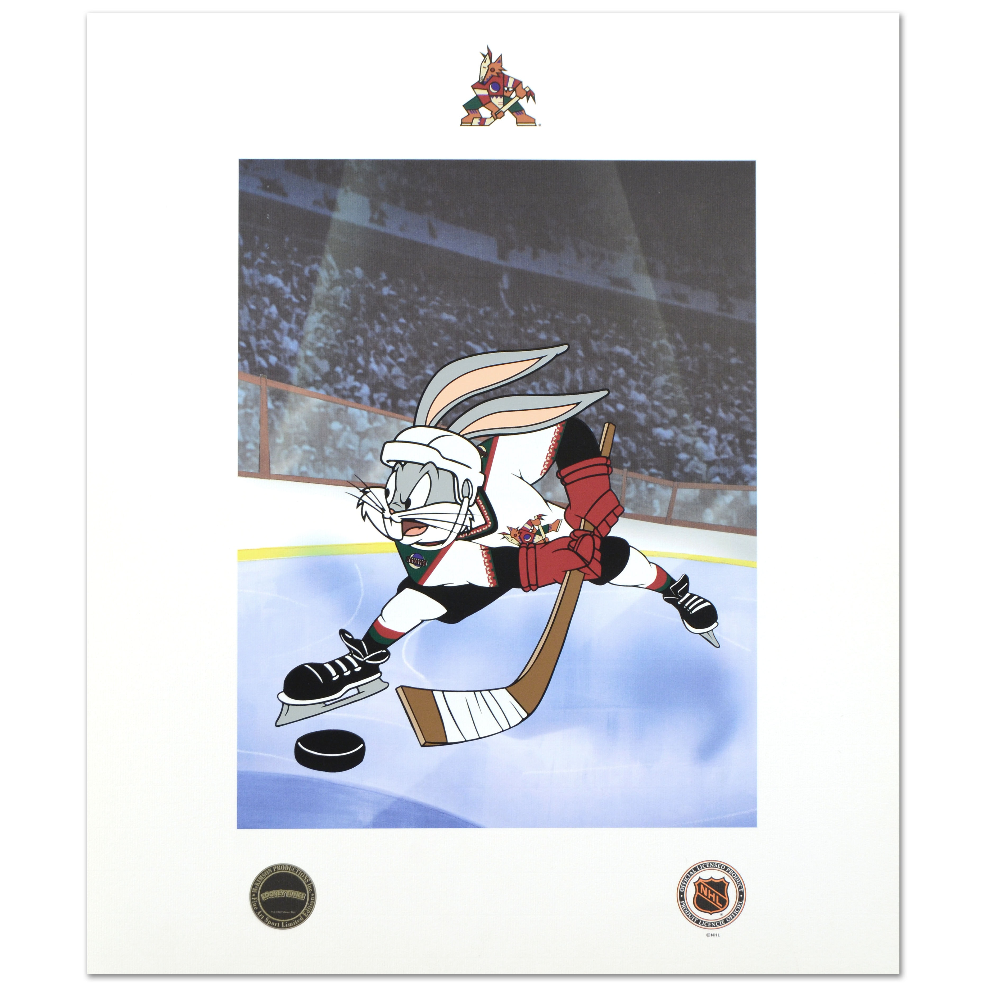 """Bugs Bunny (Arizona Coyotes)"" Licensed Collectible Mixed Media Print"