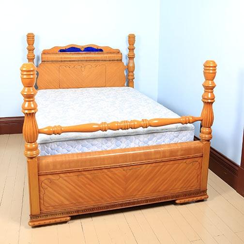 Vintage Art Deco Bed Frame Ebth