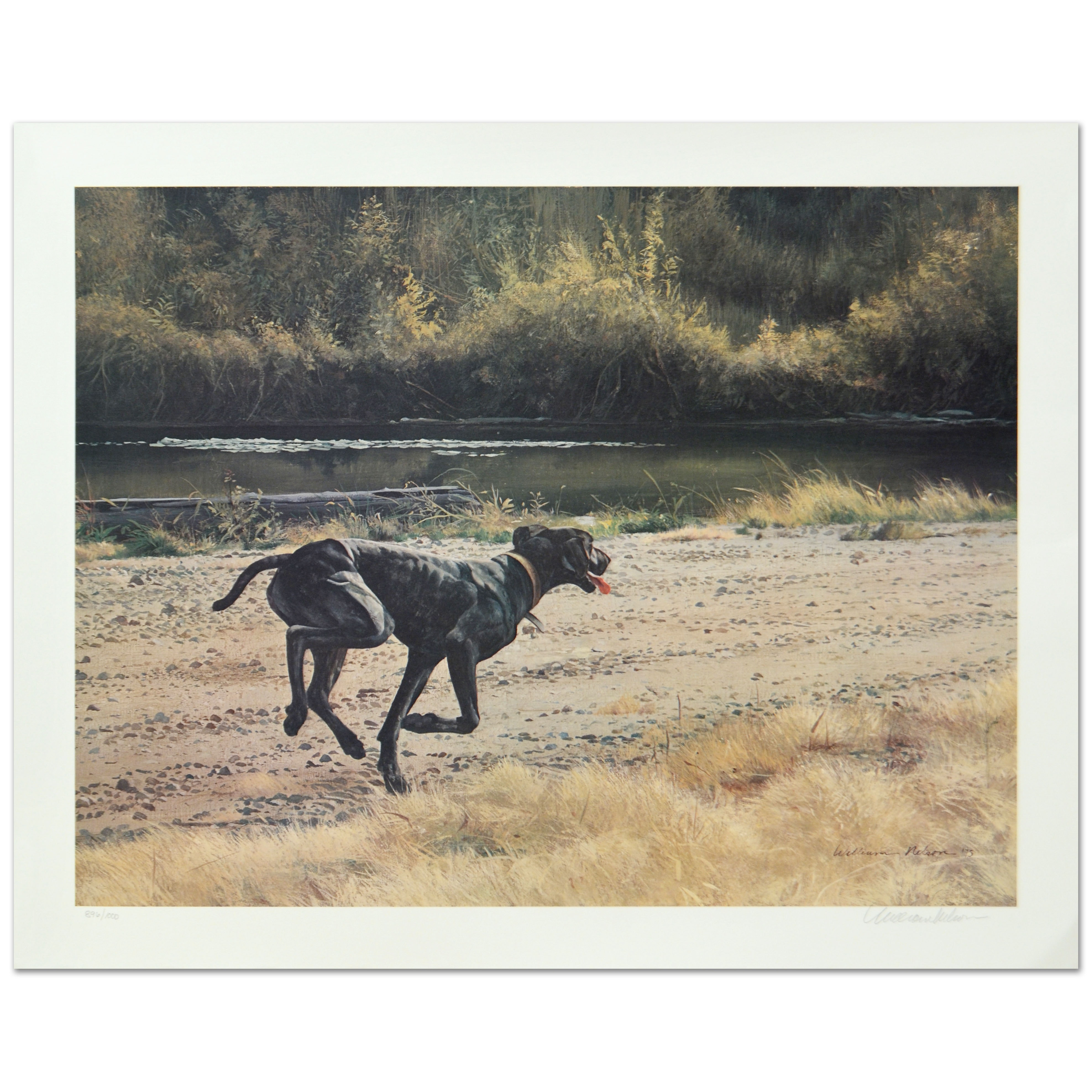 """William Nelson Limited Edition Lithograph """"On the Scent"""""""