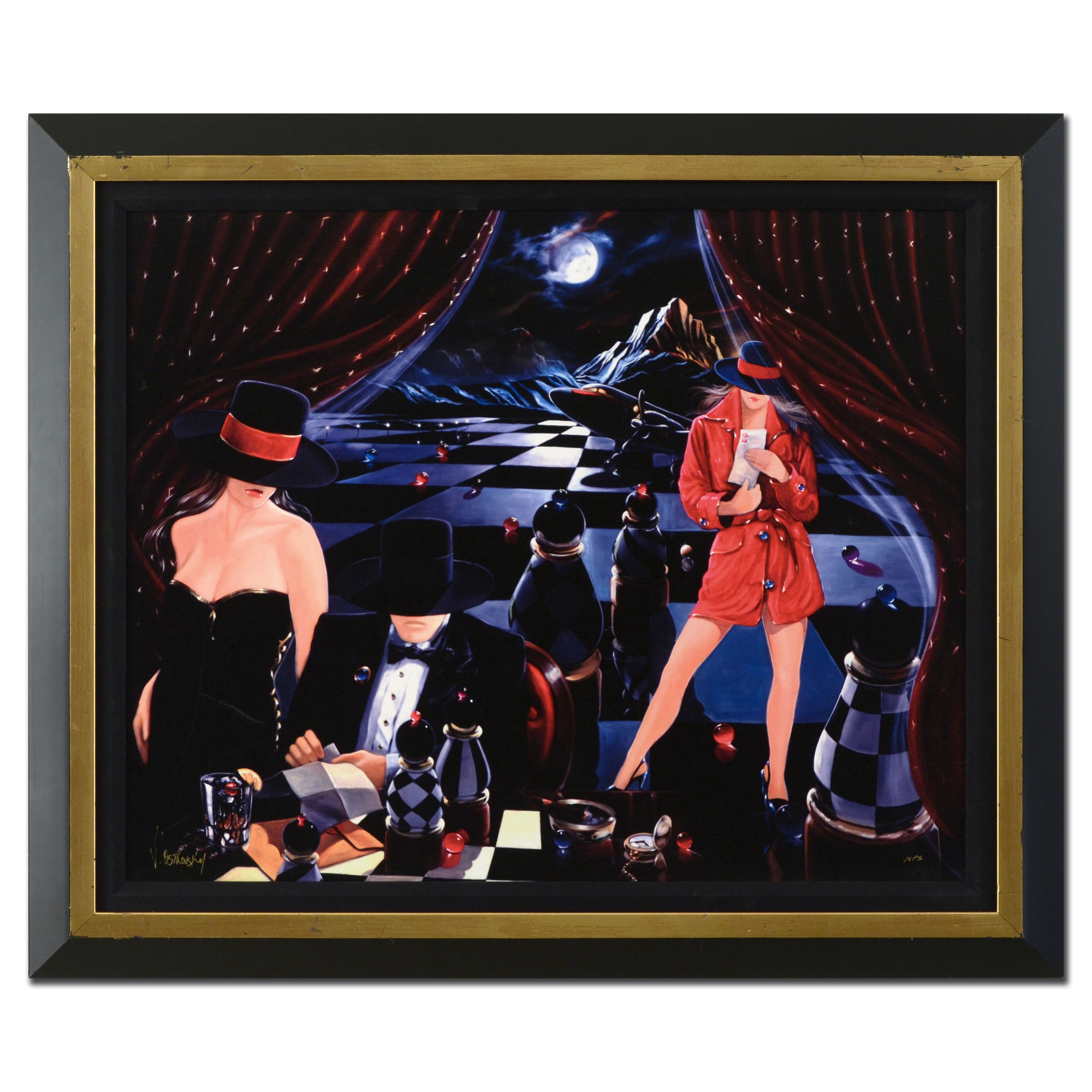 """Victor Ostrovsky Limited Edition Giclée """"The Game"""""""
