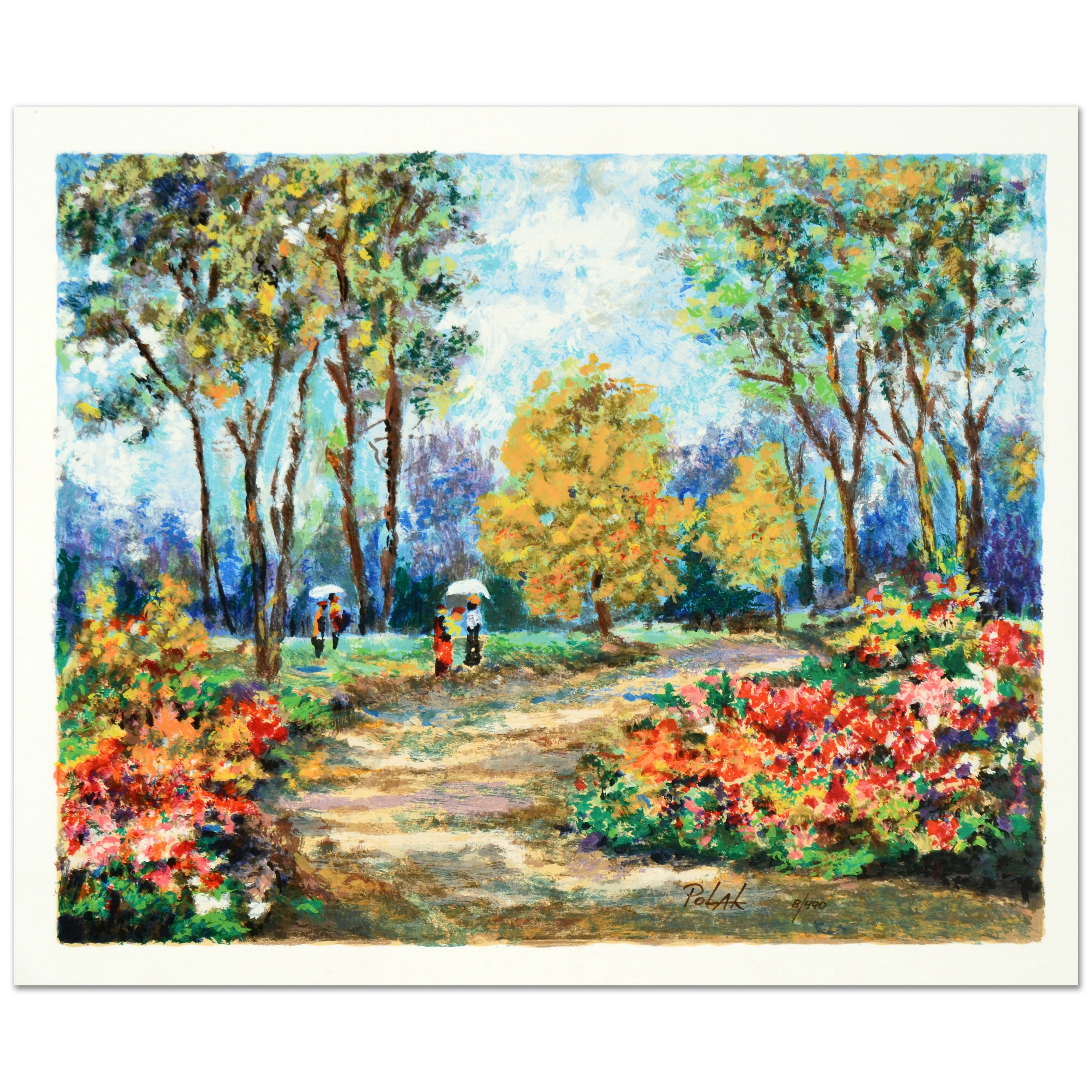 "Dimitri Polak Limited Edition Serigraph on Paper ""In the Park"""