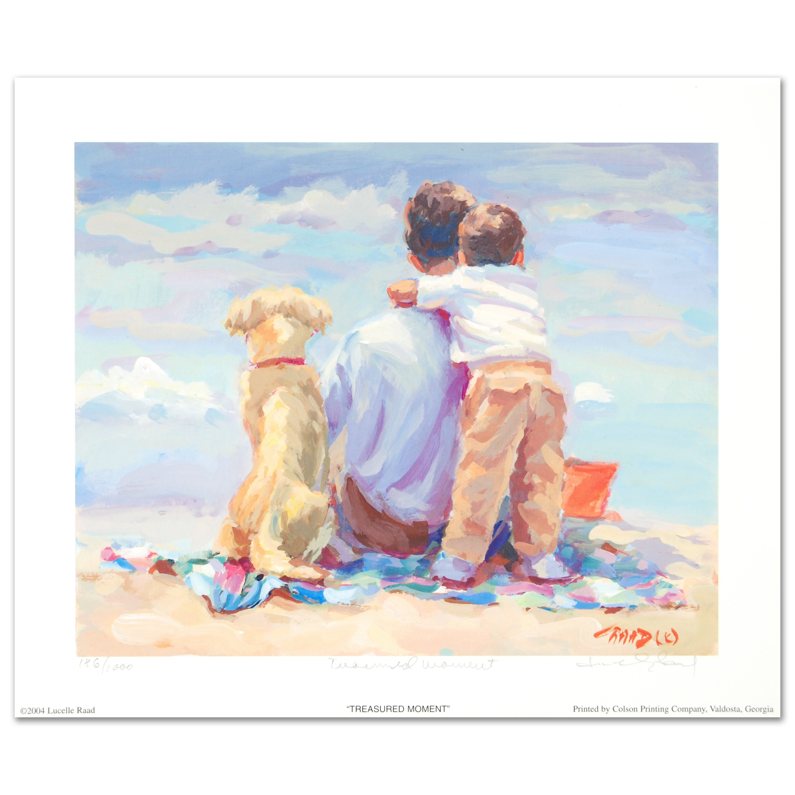 "Lucelle Raad Limited Edition Lithograph ""Treasured Moment"""