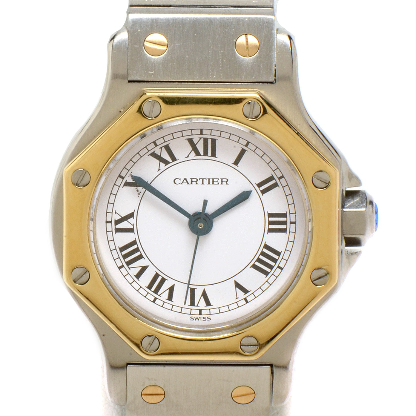Women's Cartier Santos Octagon 18K Gold and Steel Automatic