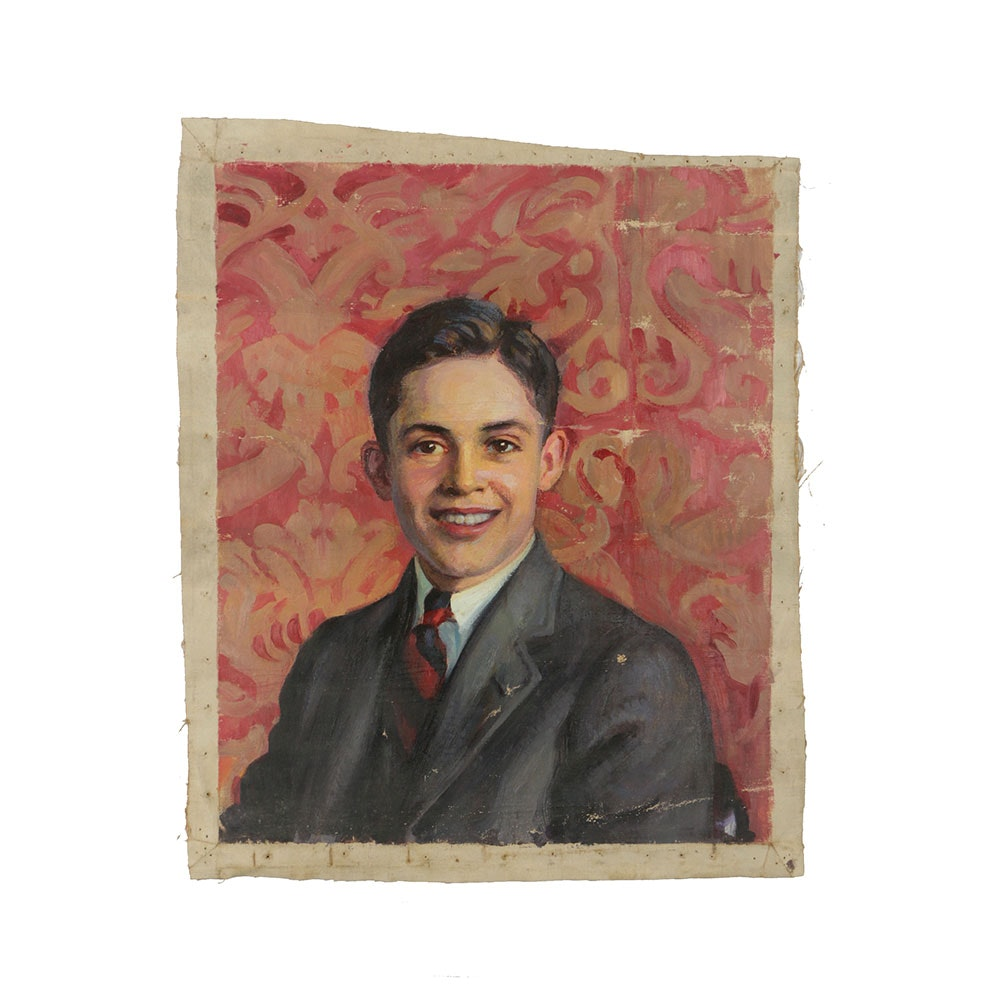 Emily B. Waite Oil Painting on Canvas Portrait of a Young Man