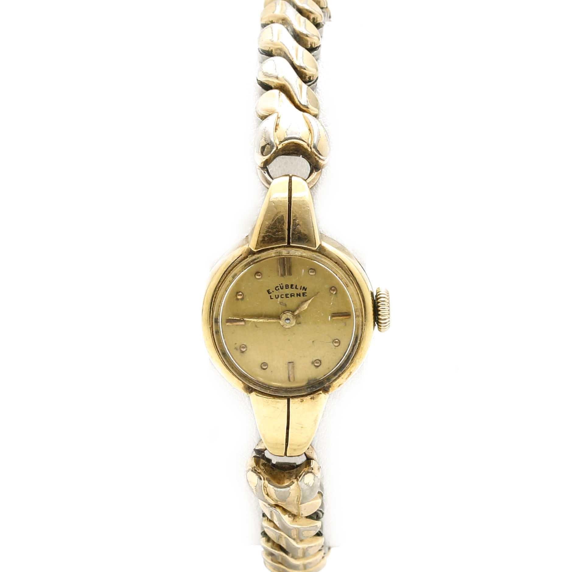 18K Yellow Gold E. Gübelin Lucerne Wristwatch