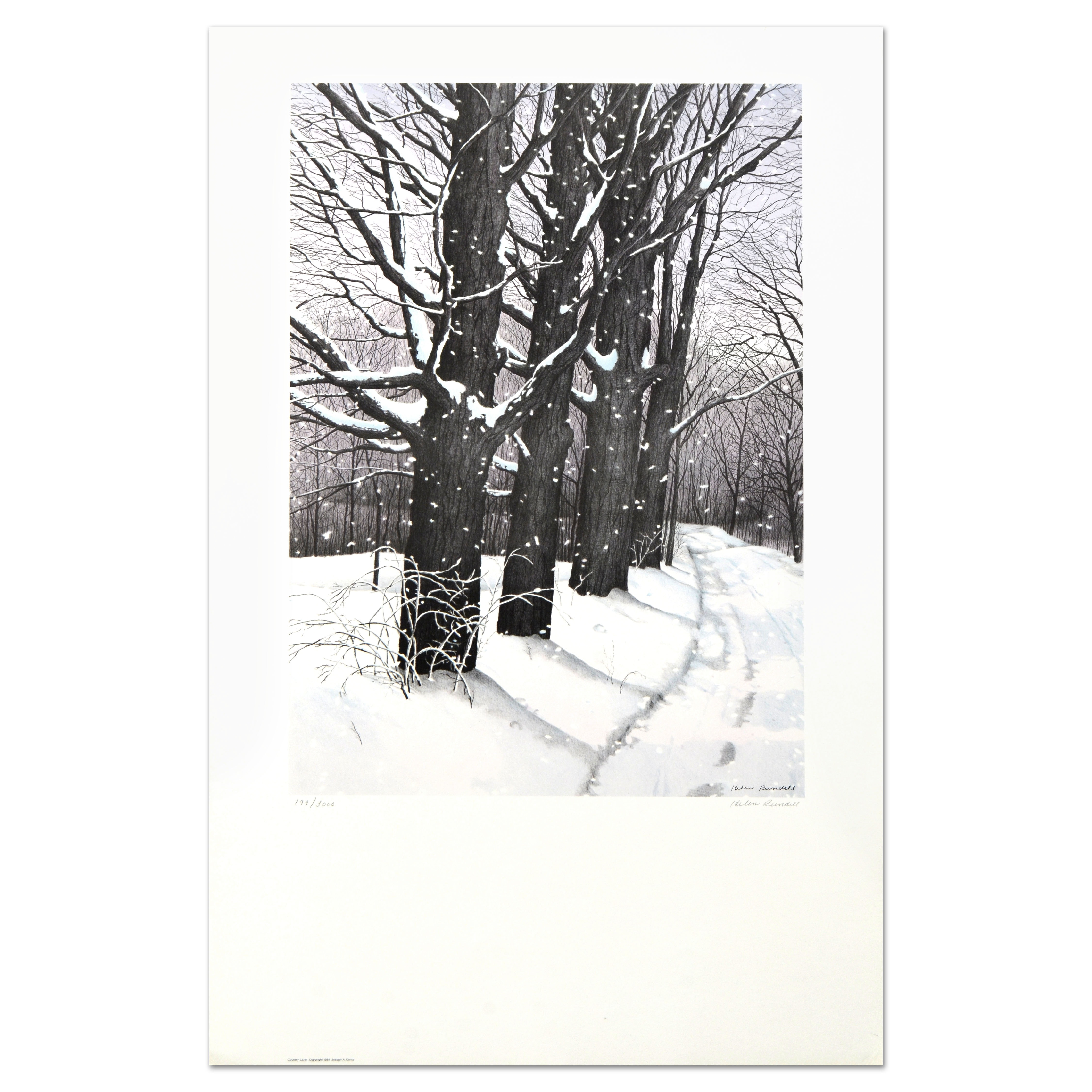 "Helen Rundell Limited Edition Lithograph ""Country Lane"""