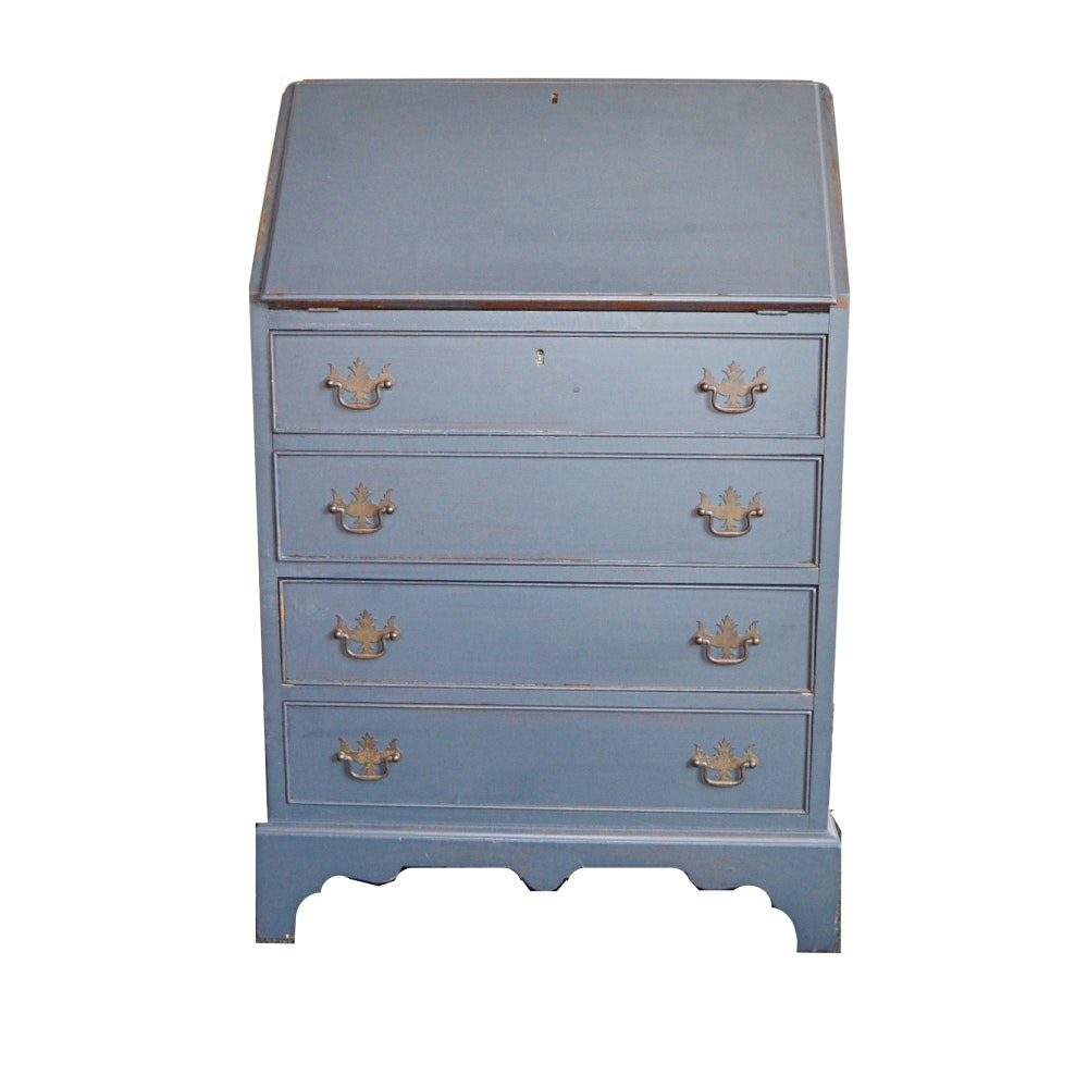 Antique Painted Federal Style Secretary