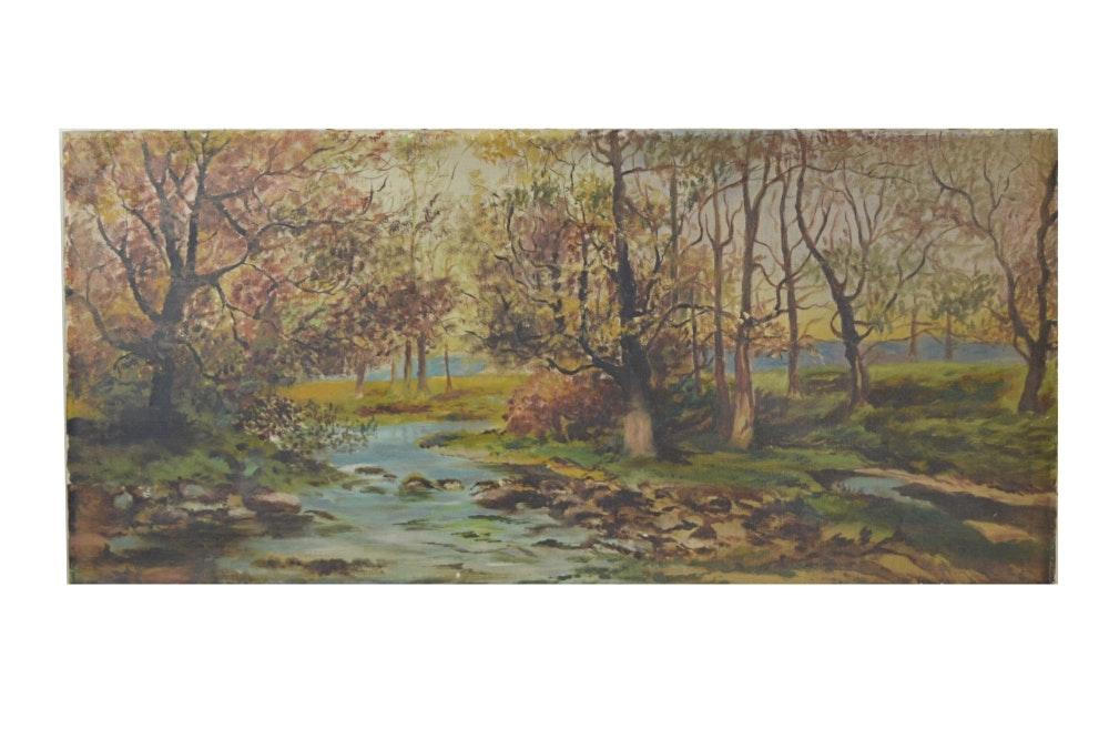 Vintage Oil Painting on Canvas