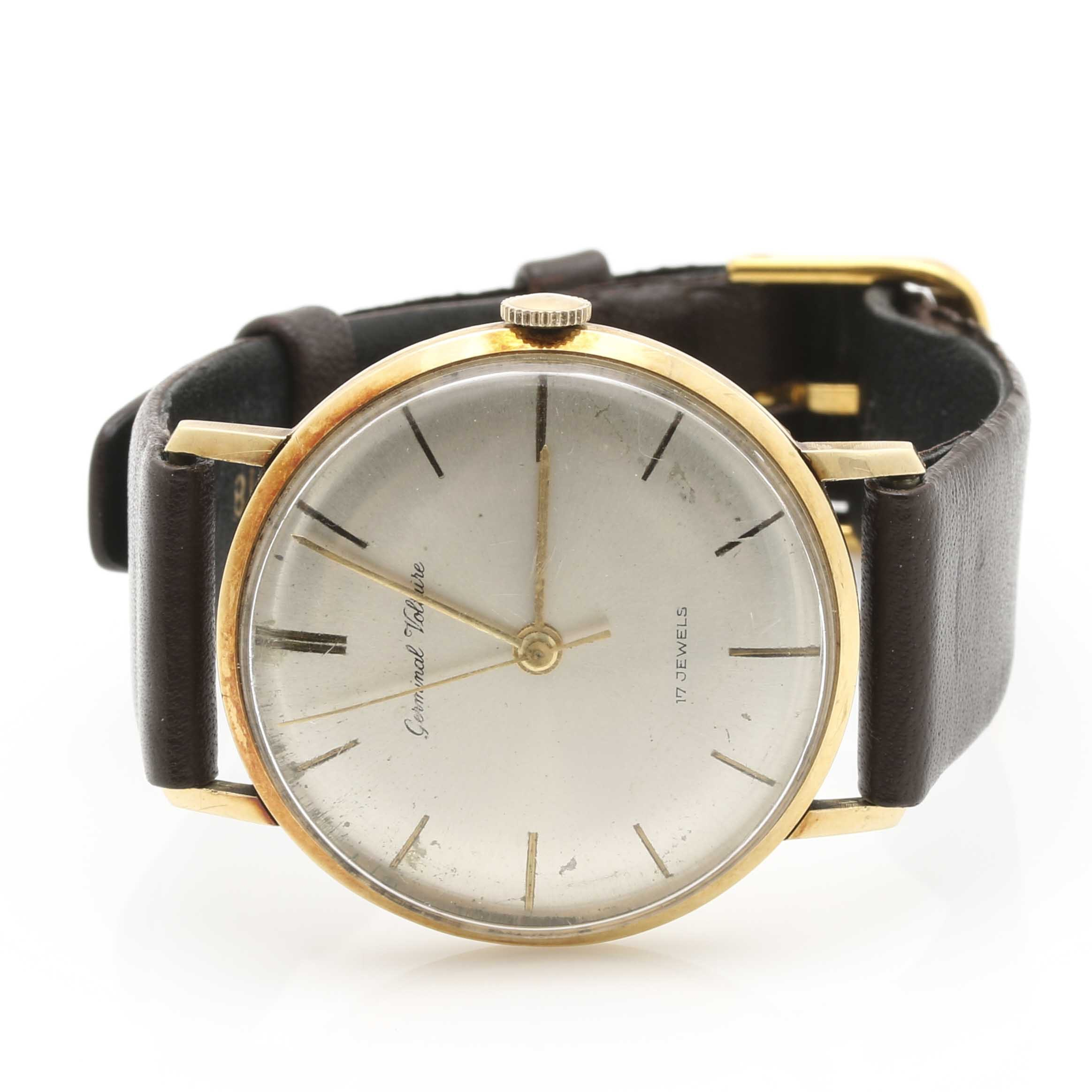 14K Yellow Gold Germinal Voltaire Wristwatch
