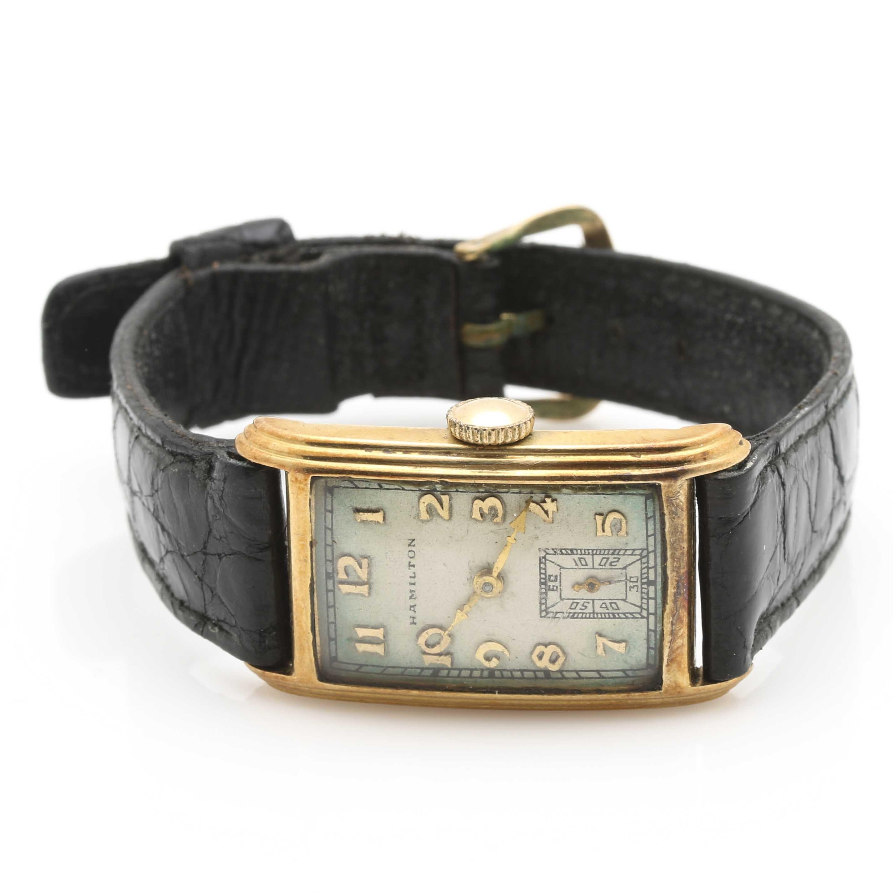 Vintage Hamilton 14K Yellow Gold Watch