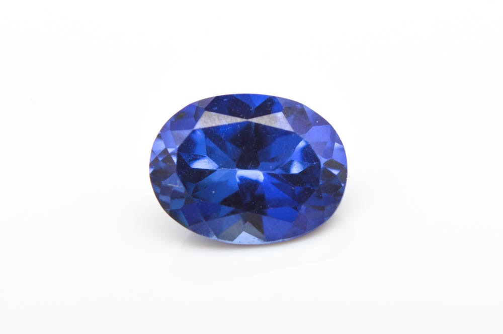 Loose 1.61 CTS Synthetic Blue Sapphire Gemstone