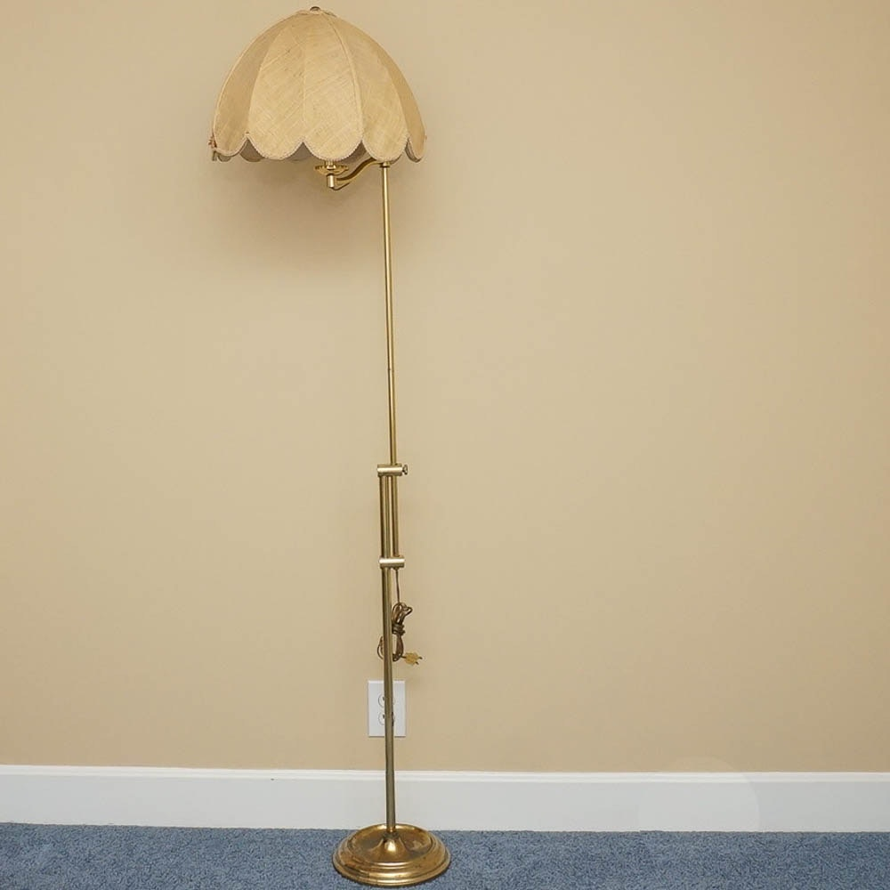 Adjustable Floor Lamp Including Scalloped Shade