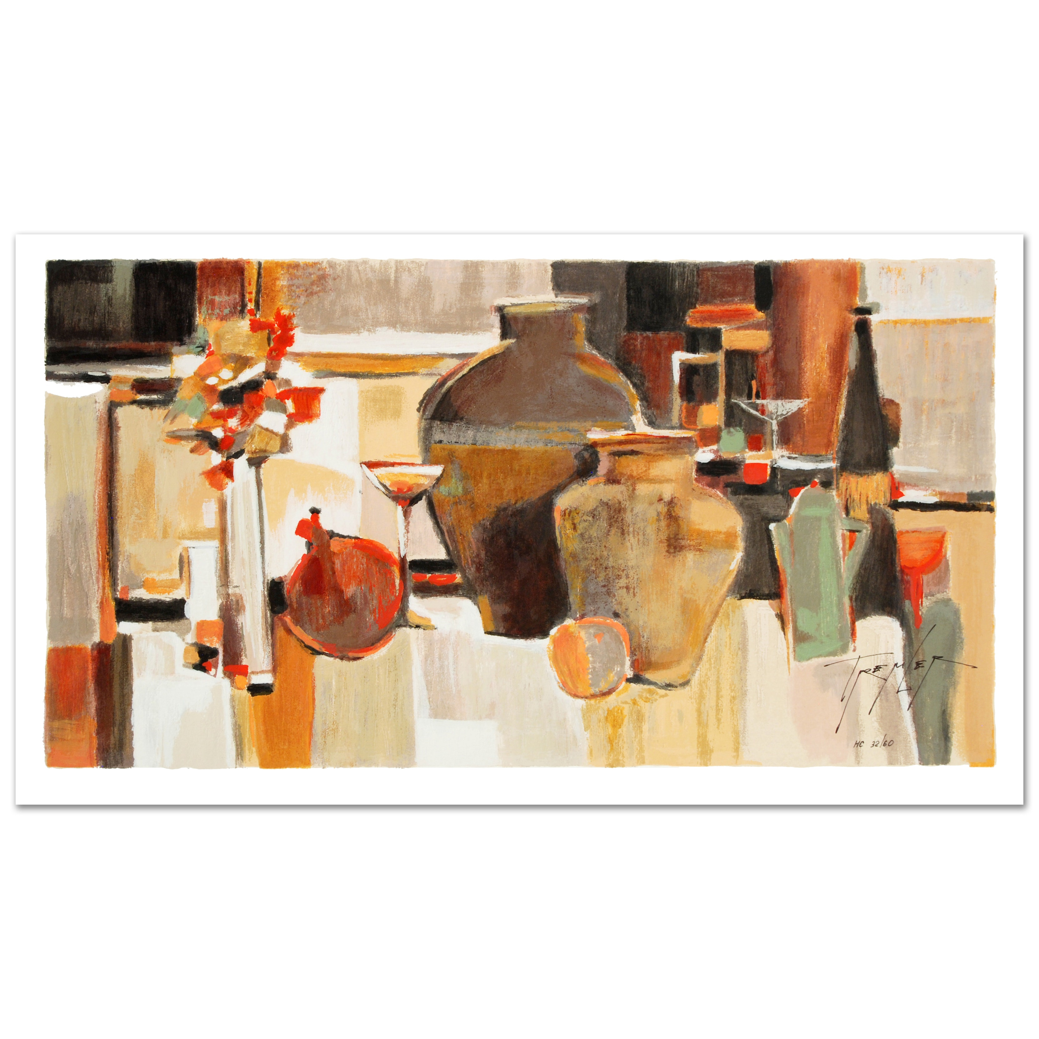 "Yuri Tremler Limited Edition Signed Serigraph on Paper ""Amphora"""