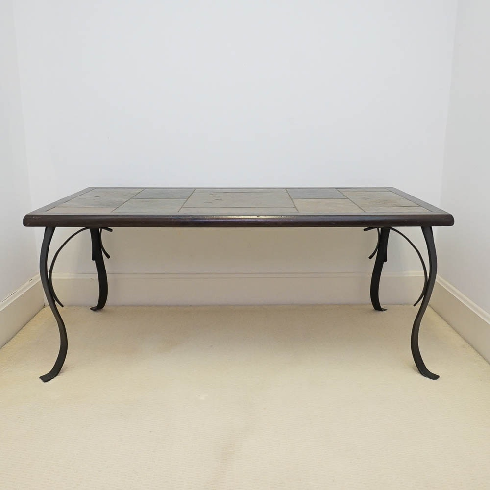 Faux Stone Top Coffee Table