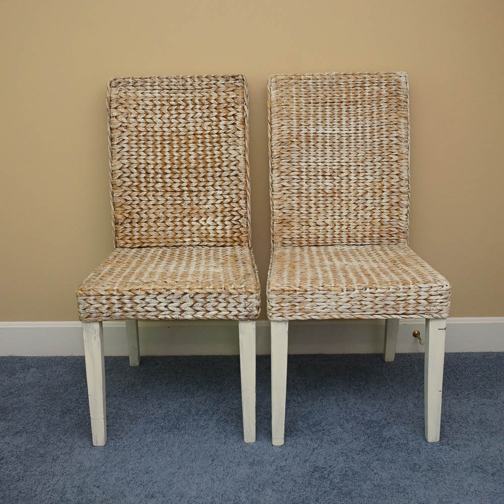 Woven Parsons Style Chairs
