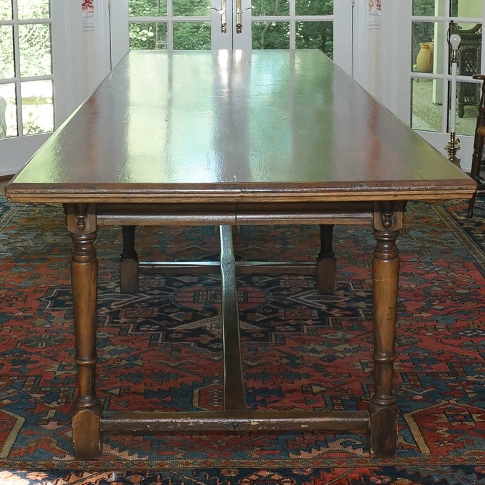 Handcrafted 12 ft. Walnut Harvest Table