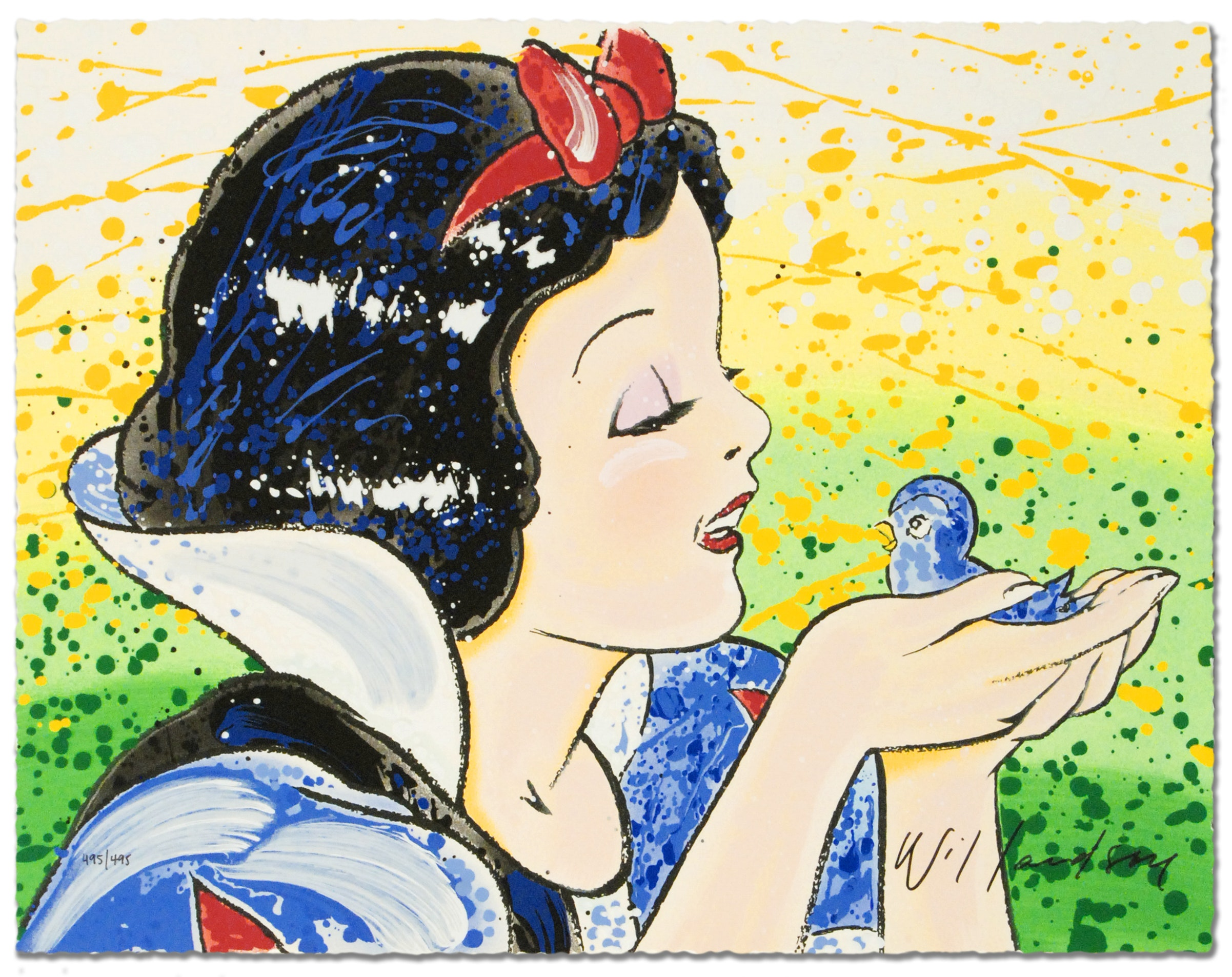"""David Willardson Signed Serigraph on Paper """"A Fine Feathered Friend"""""""