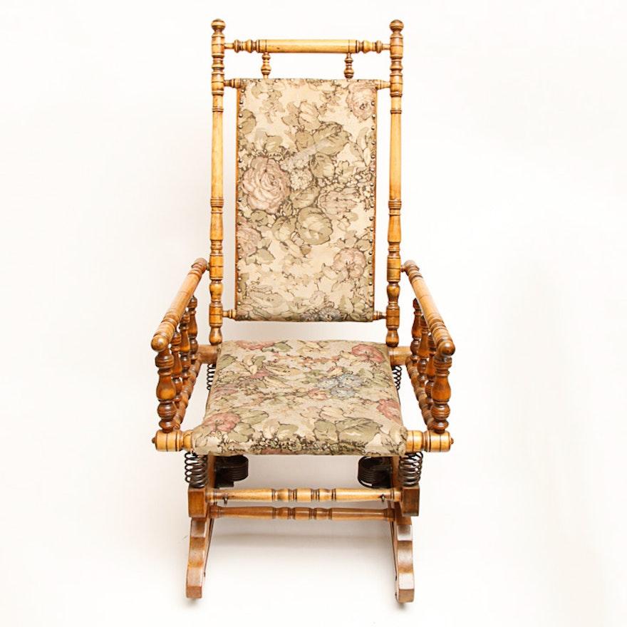 Antique Victorian Glider Rocking Chair ... - Antique Victorian Glider Rocking Chair : EBTH