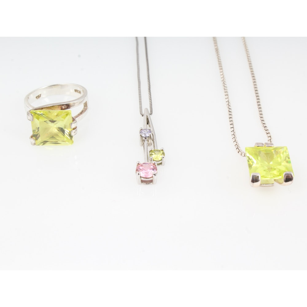 Sterling Silver and Crystal Jewelry Collection