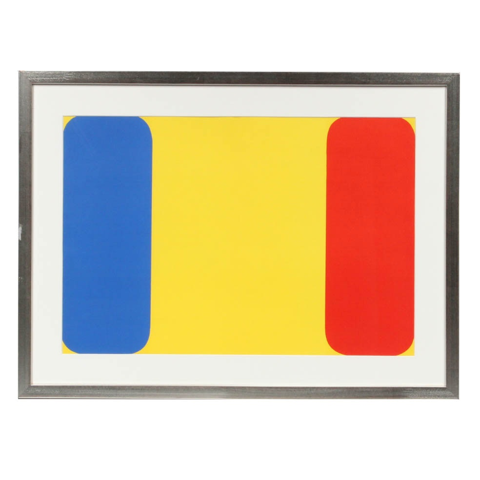 "Ellsworth Kelly ""Red Yellow Blue"" Lithograph from ""Derriere Le Mirroir"" 149"