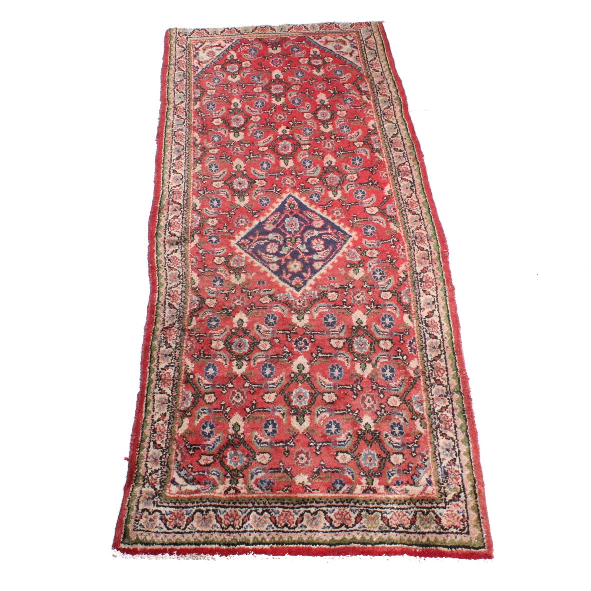 Hand-Knotted Persian Mahal Runner