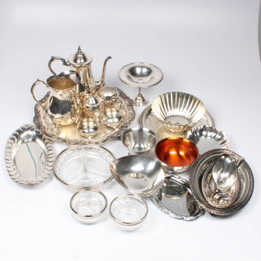 Silver Plate Tableware Featuring Webster Wilcox Tea Service