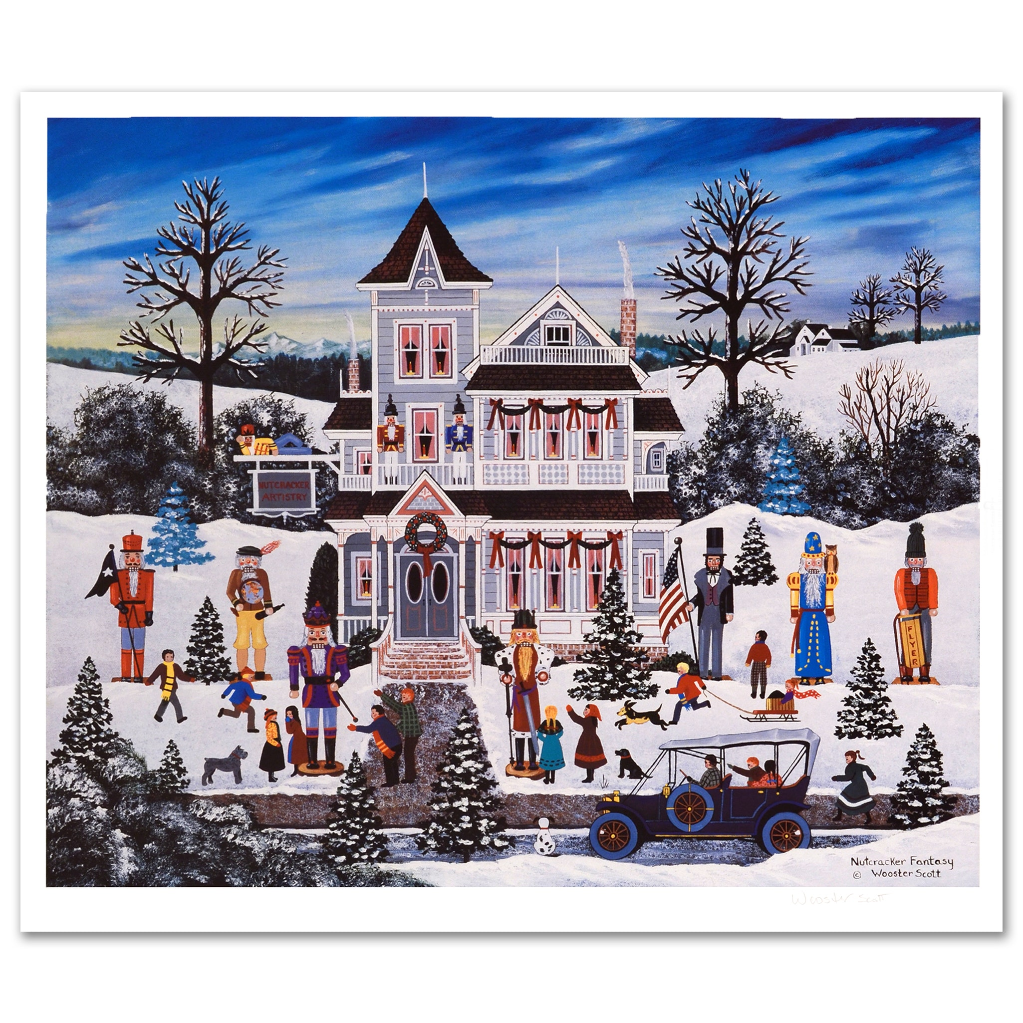 "Jane Wooster Scott Limited Edition Lithograph ""Nutcracker Fantasy"""